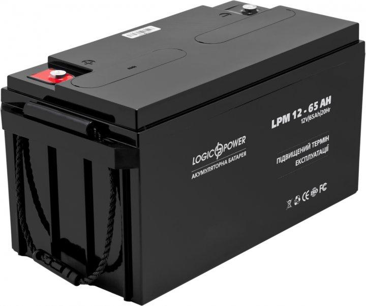 Акумулятор LogicPower AGM LPM 12 V — 65 Ah (LP3867) - зображення 1