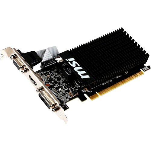 Відеокарта MSI PCI-Ex GeForce GT 710 2GB DDR3, 64 біт, 954/1600 МГц, VGA, DVI, HDMI БУ - зображення 1