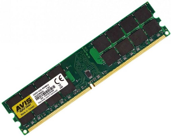 Оперативная память DDR2-800 4Gb PC2-6400 (4096MB) AVIS AD2F800/4G (770008616) - изображение 1