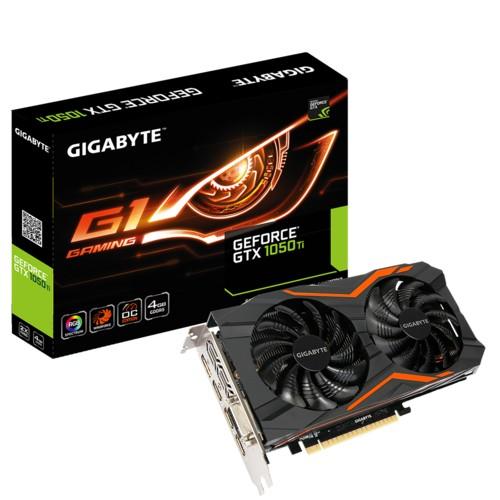 Gigabyte PCI-Ex GeForce GTX 1050 TI OC 4GB GDDR5 (128bit) (1316/7008) (DVI, HDMI, DisplayPort) (GV-N105TOC-4GD) Б/У - зображення 1