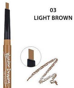 Супертонкий олівець для брів Holika Holika зі вбудованою щіточкою Wonder Drawing Skinny Eyebrow #03 Light Brown 5 г (8806334358426) - зображення 1