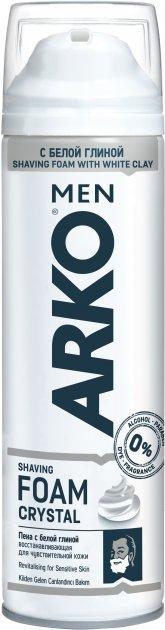 Пена для бритья ARKO Men Crystal 200 мл (8690506497361) - изображение 1