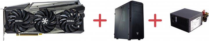 INNO3D PCI-Ex GeForce RTX 3060 Ichill X3 Red 12GB GDDR6 (192bit) (1837/15000) (3 x DisplayPort, HDMI) (C30603-12D6X-1671VA39A + CMT110A + ATX-500PNR PRO) + Корпус FSP CMT110A Black + Блок питания FSP ATX-500PNR PRO 500W в подарок! - изображение 1