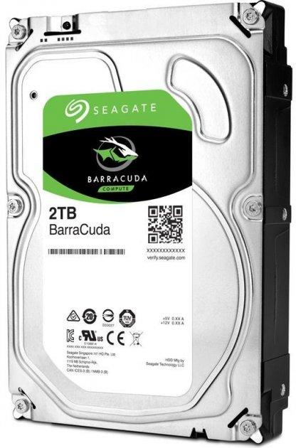 Жорстку диск Seagate BarraCuda HDD 2TB 7200rpm 256MB ST2000DM008 3.5 SATA III - зображення 1