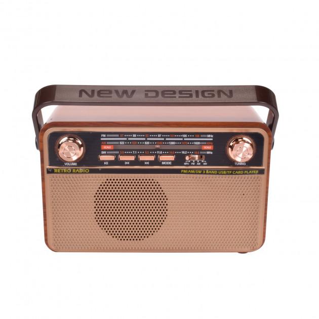 Радіо акумуляторне з Bluetooth і пультом управління Kemai Retro Brown MD-505-BT - зображення 1