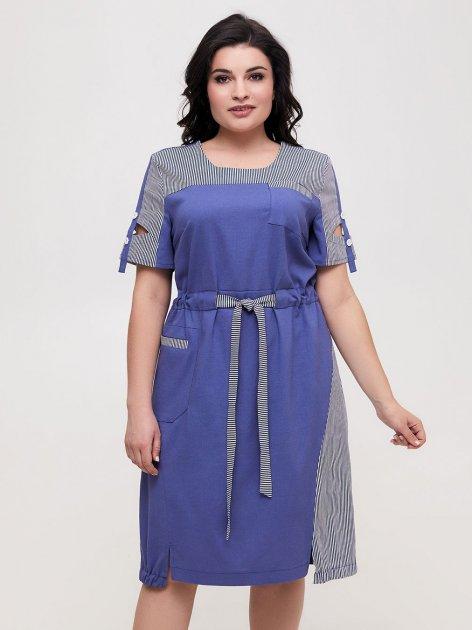 Платье All Posa Земфира 100571 56 Джинсовое - изображение 1