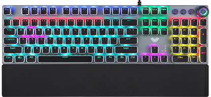 Клавиатура проводная Aula Fireshock V5 Mechanical Wired Keyboard EN/RU/UA - изображение 1