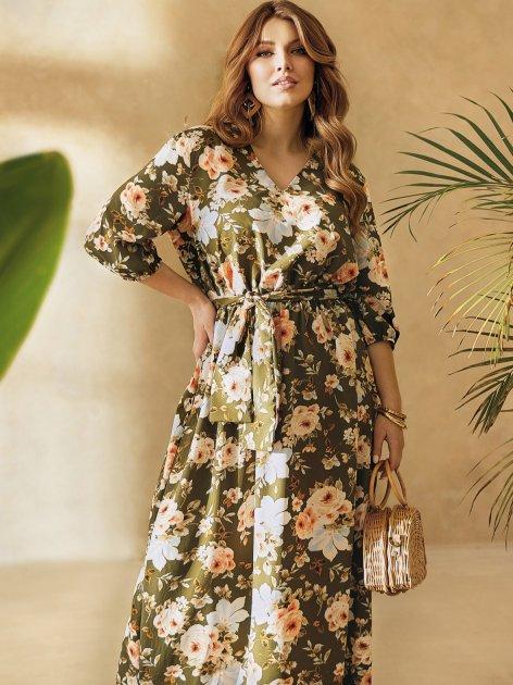 Платье Dressa 53730 46-48 Хаки (2000405737639_D) - изображение 1