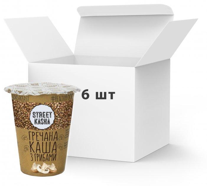 Упаковка каши Street Kasha Гречневой с грибами 50 г х 6 шт (8768137287429) - изображение 1