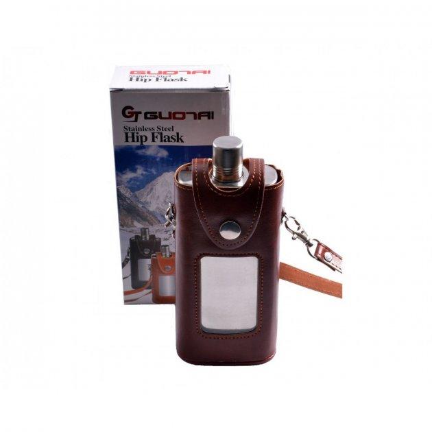 Фляга в кожаной сумке FH-11 - изображение 1