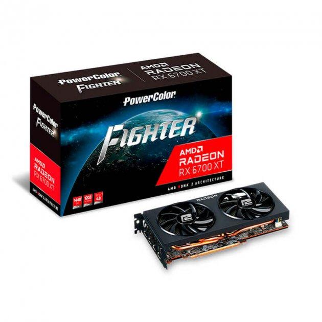 Відеокарта AMD Radeon RX 6700 XT 12GB GDDR6 Fighter PowerColor (AXRX 6700XT 12GBD6-3DH) - зображення 1
