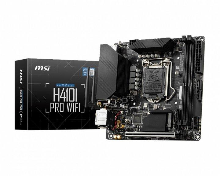 Материнская плата MSI H410I Pro WiFi Socket 1200 - зображення 1