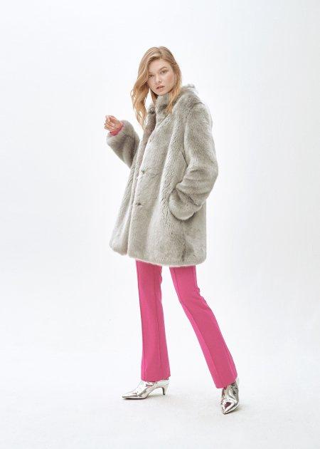 Пальто зі штучного хутра molliolli CATHERINE JACKET, M, сіре, MW9WJK11X - зображення 1