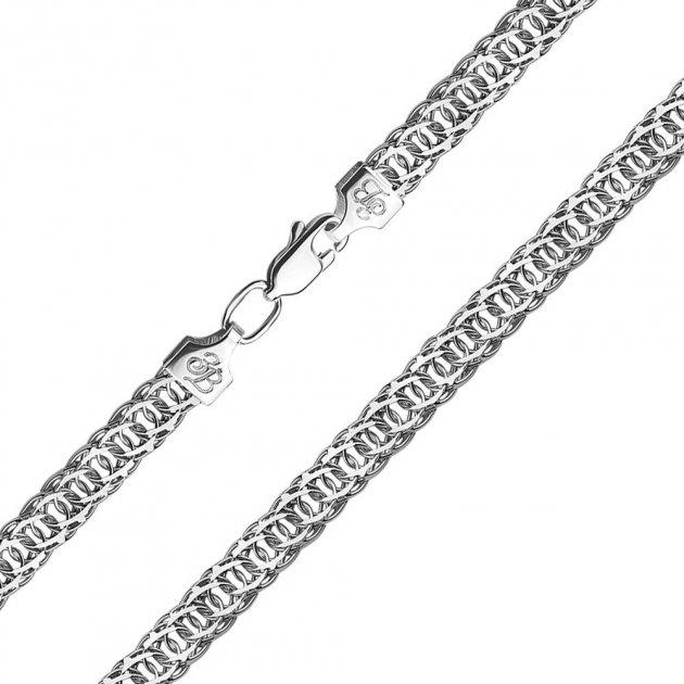 Серебряный браслет в плетнии королевский бисмарк 000125232 19 размера - изображение 1
