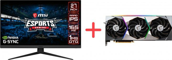 """Монітор 27"""" MSI Optix G273QF + MSI GeForce RTX 3070 Suprim X 8G - зображення 1"""