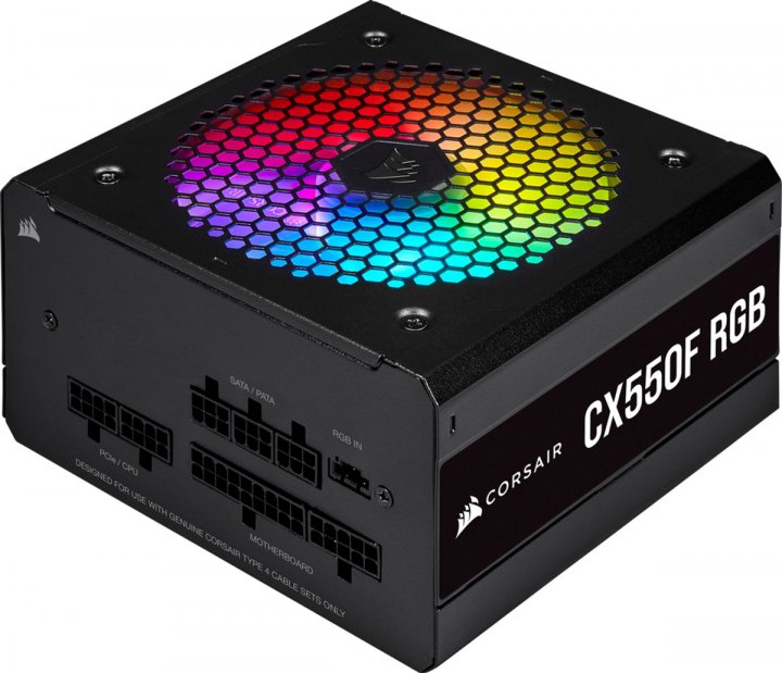Corsair CX550F RGB 550W (CP-9020216-EU) - изображение 1