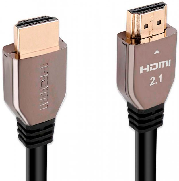 Кабель Promate ProLink8K-200 Black, HDMI v.2.1 — HDMI v.2.1, 2 м UltraHD-8K, 3D (prolink8k-200.black) - зображення 1