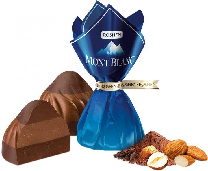 Конфеты Roshen Mont Blanc трехслойное ореховое пралине 500 г (4823077628689) - изображение 1