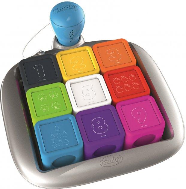 Интерактивный набор кубиков Smoby Toys Смоби Смарт со звуковыми и световыми эффектами (190102)