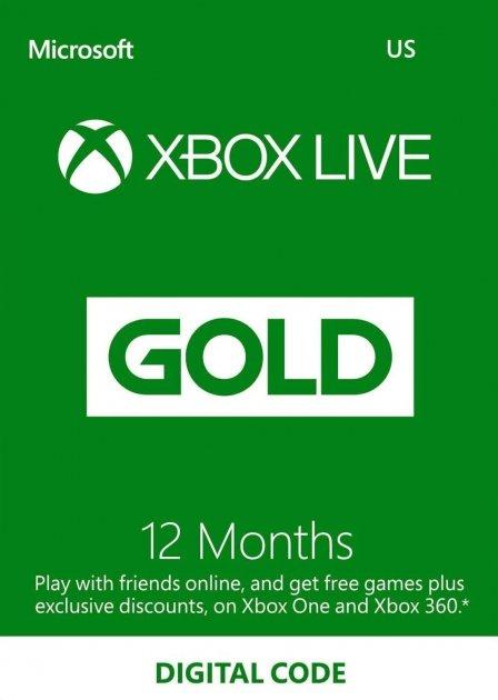 Электронный код (Подписка) Xbox Live Gold - 12 месяцев Xbox360/ One/Series для всех регионов и стран - зображення 1