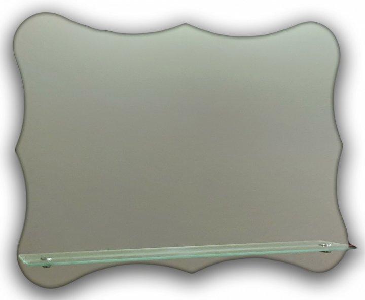 Зеркало оригинальной формы с полочкой Seria A №27 (500х650х120 мм) - изображение 1