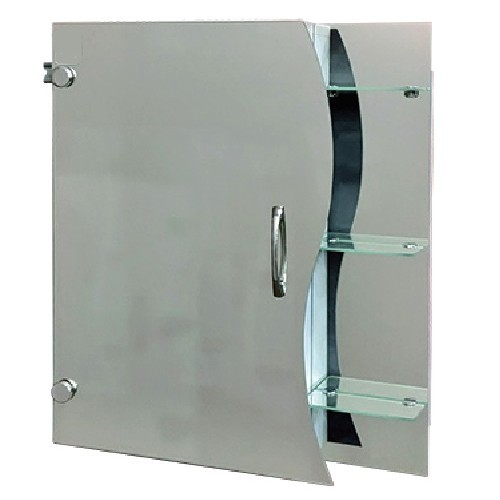 """Зеркальный шкаф с открытыми полками Seria A """"Эконом"""" №56 (650 x 550 x 130) - изображение 1"""