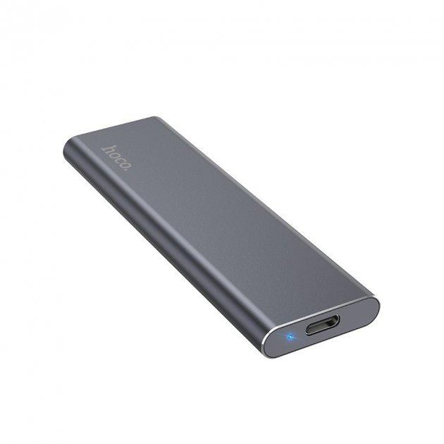 Зовнішній накопичувач Hoco SSD Type-C Extreme UD7 256GB/USB 3.1 з кабелем-адаптером 2в1 USB|Type-C - зображення 1
