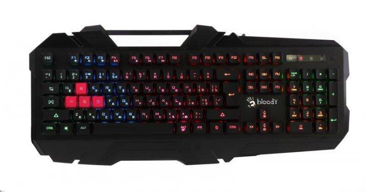 Клавіатура A4Tech B150N Bloody Black USB - зображення 1