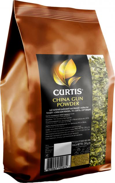 Чай зеленый крупнолистовой Curtis China Gun Powder 250 г (4823063702874) - изображение 1