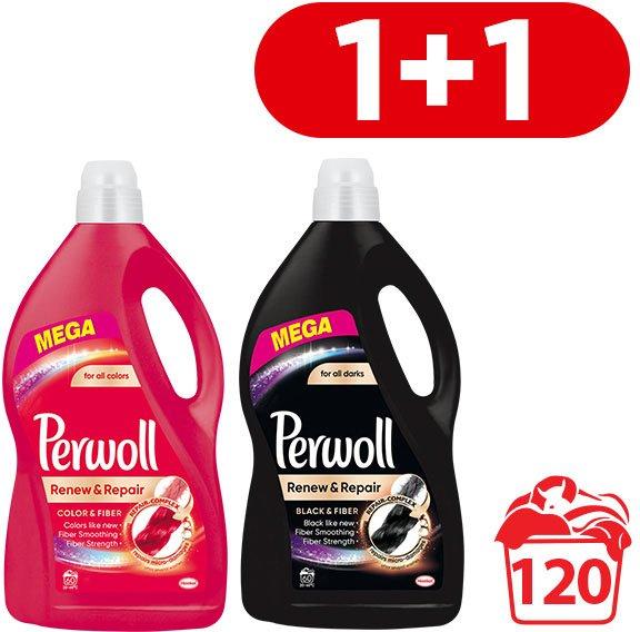 Средство для деликатной стирки Perwoll Color 3.6 л + Black 3.6 л (9000101425864) - изображение 1