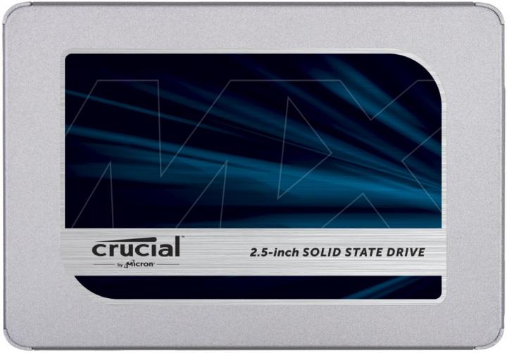 "Накопичувач SSD 500Gb Crucial MX500, SATA3, 2.5"", TLC 3D NAND, 560/510 MB/s (CT500MX500SSD1) - зображення 1"
