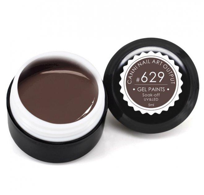 Гель-фарба CANNI 629 молочний шоколад, 5 ml - зображення 1
