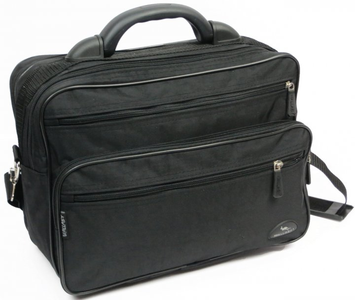 Чоловік тканинний портфель Wallaby 2653 чорний - зображення 1