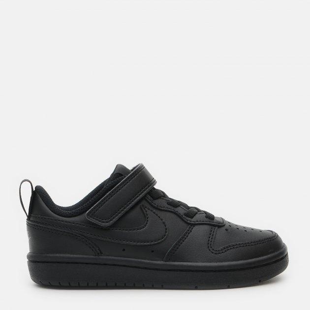 Кроссовки кожаные Nike Court Borough Low 2 (Psv) BQ5451-001 33 (2.5Y) 21.5 см Черные (193145976597) - изображение 1