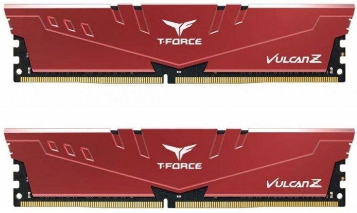 Модуль пам'яті Team Vulcan Z Red DDR4 16GB (2x8GB) 3200 C16-18-18-38 (TLZRD416G3200HC16CDC01) - зображення 1
