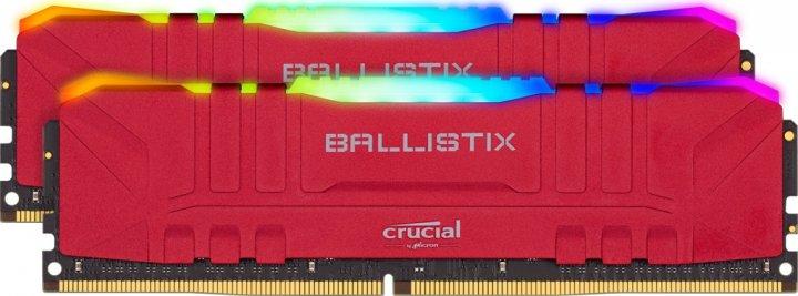 Модуль пам'яті Crucial 16GB (2x8GB) DDR4 3200 Ballistix RGB Red (BL2K8G32C16U4RL) - зображення 1