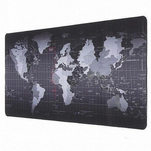 Ігровий Килимок під мишку великий 900 х 400 х 3 мм на стіл, прошитий з малюнком карта світу (MP-Map-9040-Speed) - зображення 1