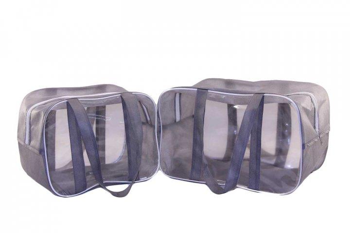 Набор из 2 сумок в роддом EcoNova S + M серый - изображение 1