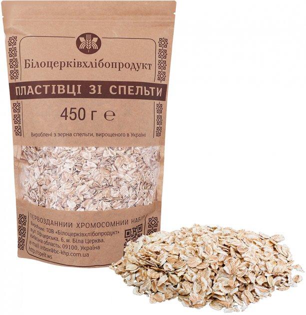 Пластівці зі спельти Білоцерківхлібопродукт 450 г (4820017371049) - зображення 1