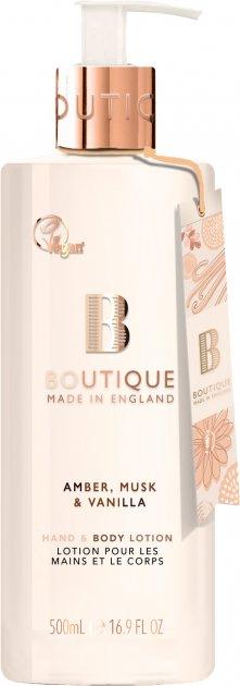 Лосьйон для рук і тіла Grace Cole Hand & Body Lotion Boutique Amber Musk & Vanilla 500 мл (5055443679752) - зображення 1