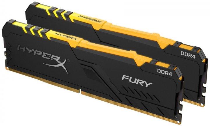 Оперативная память HyperX DDR4-3600 32768MB PC4-28800 (Kit of 2x16384) Fury RGB (HX436C18FB4AK2/32) - изображение 1