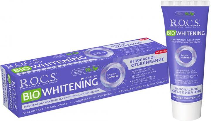 Зубная паста R.O.C.S. BIO Whitening Безопасное отбеливание 94 г (4607034474737) - изображение 1