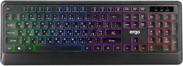 Клавіатура дротова Ergo KB-635 USB Black - зображення 1