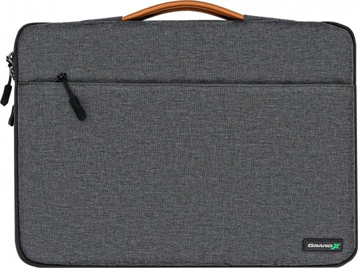 """Чехол для ноутбука Grand-X SLX-14D 14"""" Dark Grey - изображение 1"""