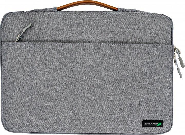 """Чехол для ноутбука Grand-X SLX-15G 15"""" Grey - изображение 1"""