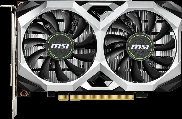 MSI PCI-Ex GeForce GTX 1650 D6 Ventus XS OCV2 4GB GDDR6 (128bit) (1620/12000) (DisplayPort, HDMI, DVI) (GTX 1650 D6 VENTUS XS OCV2) - изображение 1