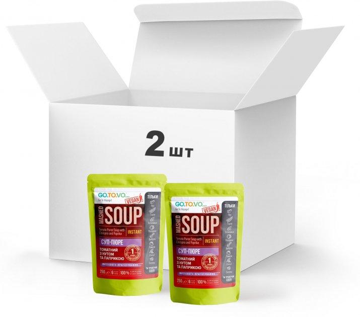 Набір Терра №2 Суп-пюре томатний з нутом і паприкою 2 x 250 г у дой-пакеті (4820015739469) - зображення 1