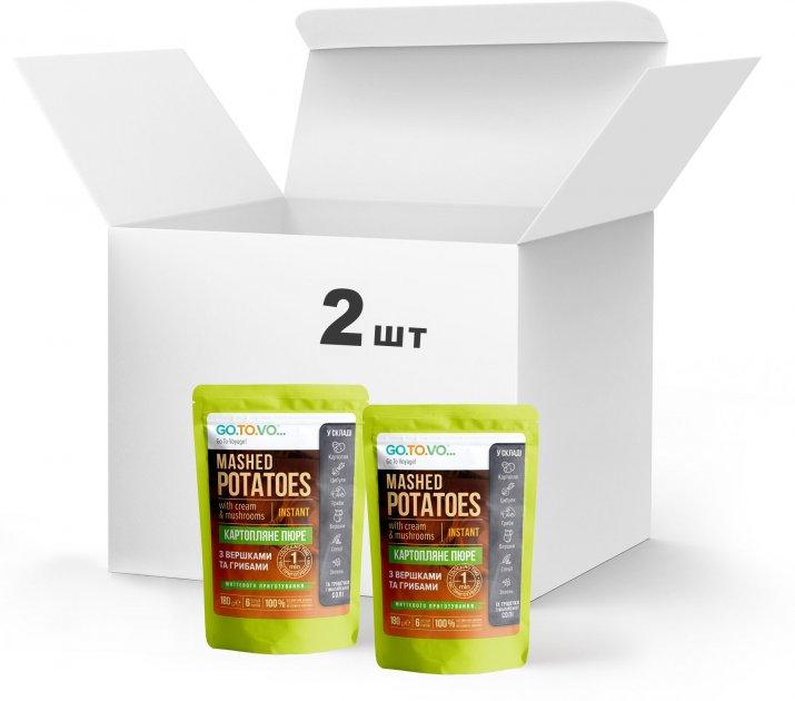Набір Терра №6 Пюре картопляне з вершками та грибами 2 x 0.180 кг у дой-пакеті (4820015739506) - зображення 1