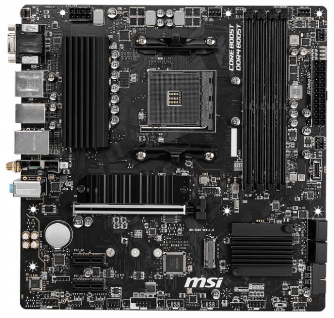 Материнська плата MSI B550M PRO-VDH Wi-Fi (sAM4, AMD B550, PCI-Ex16) - зображення 1