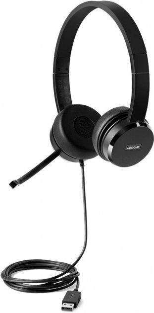 Навушники Lenovo 100 Stereo USB Headset (4XD0X88524) - зображення 1